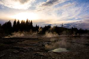 Yellowstone National Park - Vent Sunset (2014)